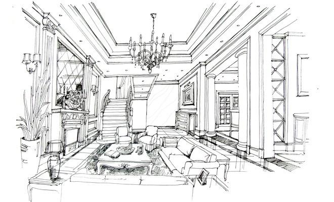 室内设计基础手绘图